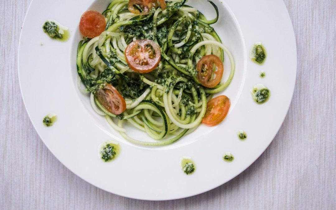 Rezept| Zucchininudeln mit Pesto